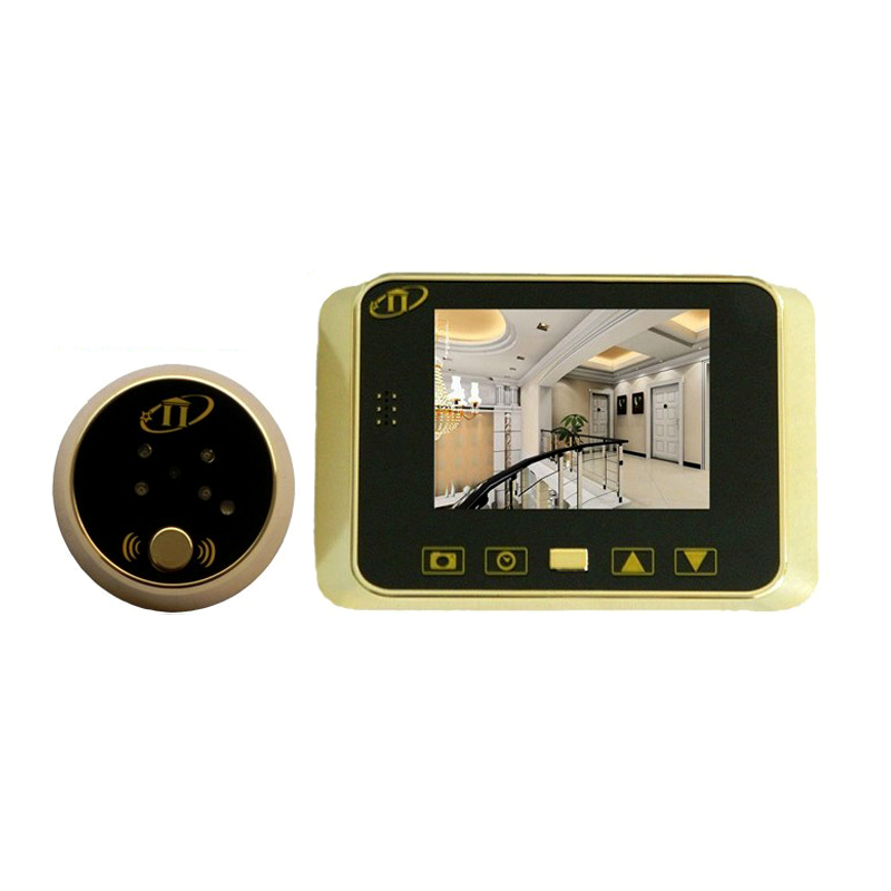 3 5 inch digital door peephole viewer camera lens with for Door viewer camera