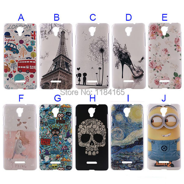10 Patterns Hard Soft Touched Plastic Case for Coolpad Modena/5.5 inch Phone Back Cover(China (Mainland))