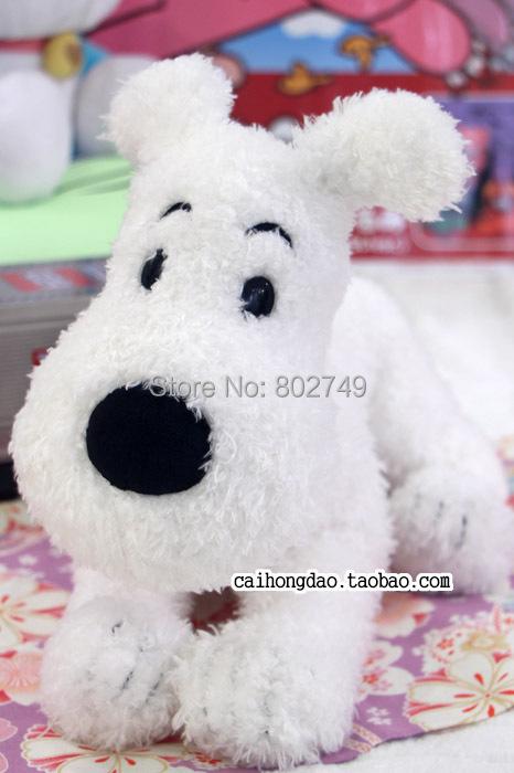 THE ADVENTURES OF TINTIN Plush Toys 34cm Snowy The Dog