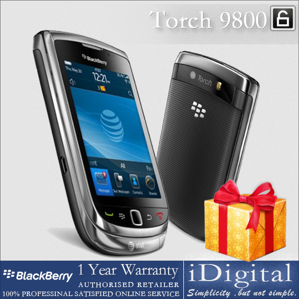 "Original BlackBerry Torch 9800 Unlocked Smartphone 3.2"" TFT Screen QWERTY 5.0MP Camera 3G WiFi GPS Refurbished(China (Mainland))"