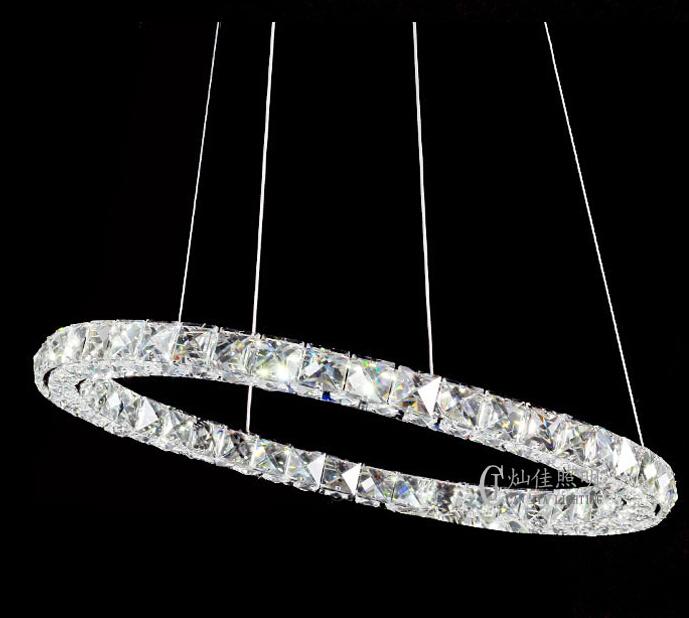 100CM Hot sale Diamond Ring LED Crystal Chandelier Light