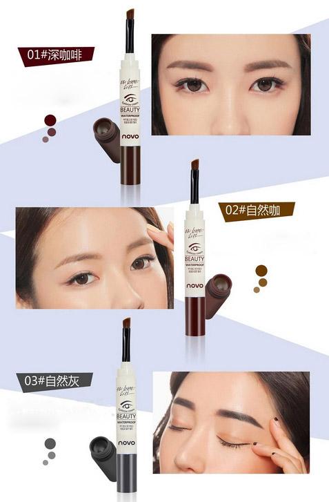 Marca PRO 3 Cor Creme Sobrancelha Mascara Gel Maquiagem À Prova D' Água Gel Longa-com duração de Maquiagem Lápis de Sobrancelha Enhancer com Escova