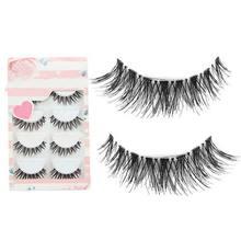 5 Pairs Of New Women Lady Lot Black Cross False Eyelashes Soft Long Makeup Eye Lashes Extension Tools