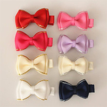 New Arrival 80pcs/lot Bow Alligator Ribbon Bowknot Sweet Baby Girls Hairpin Mini Size Hair Clips For Kids Cute Children Headwear(China (Mainland))