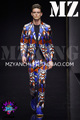 S 5XL Men brand new fashion DG Blue and red light geometric stretch satin surface suit