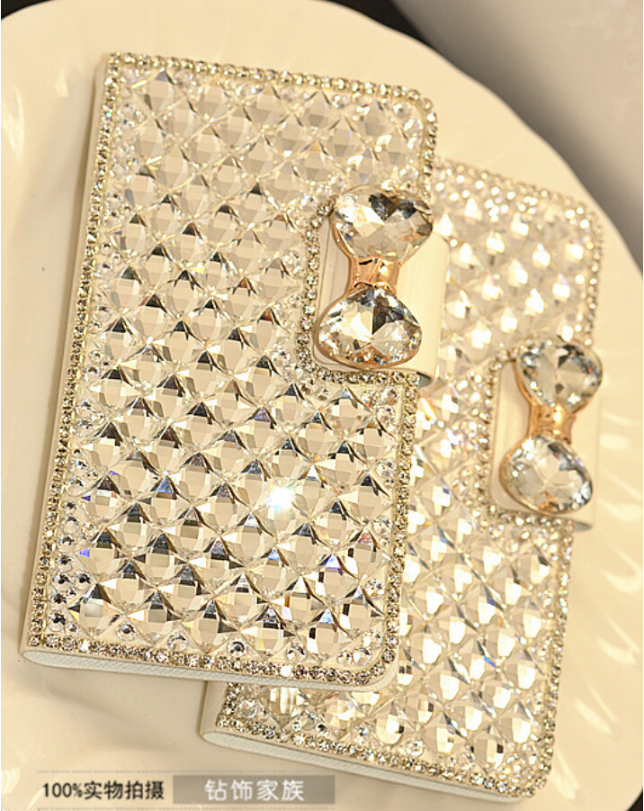 USA Luxury Bling Handmade Crystal Diamond Rhinestone Leather Case For iPhone 6 Case Plus 5.5 Cover Housing & Other Model(China (Mainland))