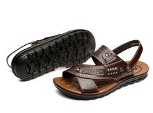 New summer men's sandals men beach shoes the flip flops men breathable leather men's shoes sandals and slippers K0153