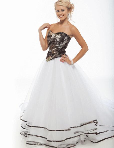 Новый 2016 Камуфляж Свадебные Платья Для Женщин Милая Рукавов Зашнуровать Камуфляж Свадебные Платья Свадебные Платья Novia WM11