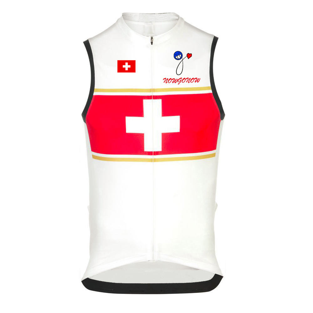 2016 Clothes Jersey Cycling Wear Sleeveless Australia Swiss National Flag Swiss Team Nowgonow Sleeveless Bike Bicycle Clothes(China (Mainland))