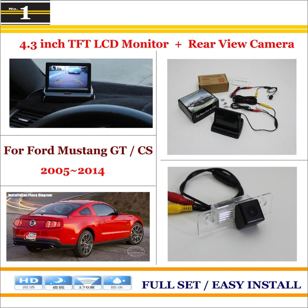 """Car Rearview Camera + 4.3"""" LCD Screen Monitor = 2 in 1 Parking Assistance System - For Ford Mustang GT / CS 2010~2014(China (Mainland))"""