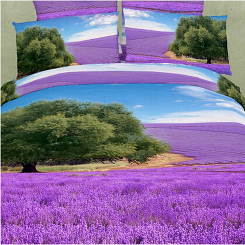 A family Of Four Cotton Bedding Cotton Bed Linen Quilt 3D Printing Special Free shipping(China (Mainland))