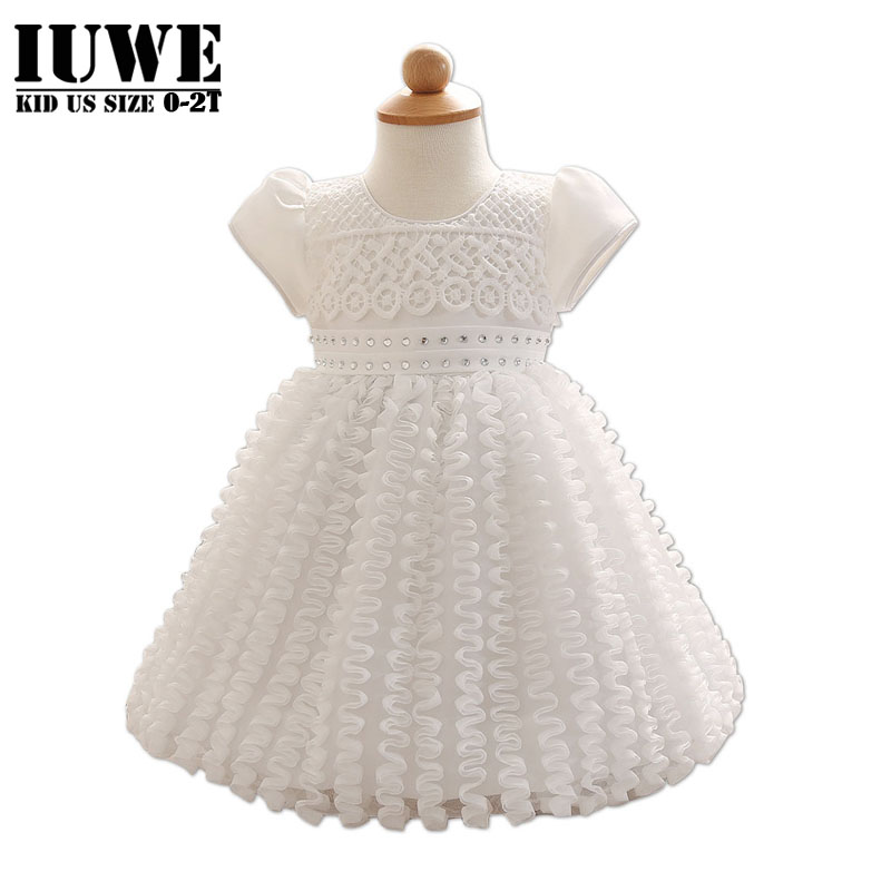 Baby Girl Dress for 1 year Girl Baby Birthday Cute Toddler Ball Gowns with Short Sleeve Baby Girl Christening Gowns Robe Bapteme(China (Mainland))