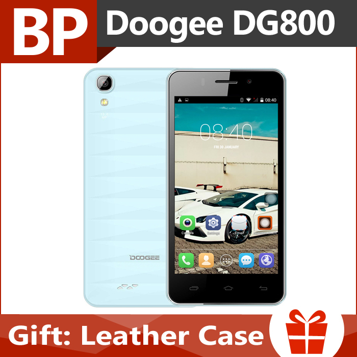 Original Doogee VALENCIA DG800 4.5 Inch QHD IPS Mt6582 Quad Core Android 5.0 Mobile Cell Phone 1GB RAM 8GB ROM 8MP CAM In Stock(China (Mainland))