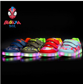 Size 25-37 new Kids Sneakers Boys Girls Fashion Luminous Lighted Colorful LED lights Sneaker Casual Flat Shoes chaussure enfant(China (Mainland))