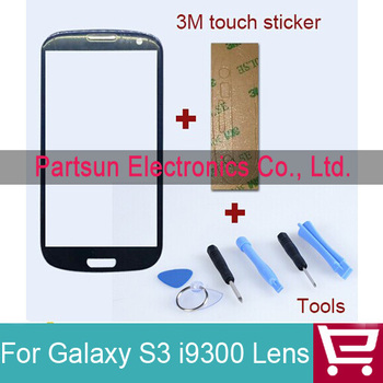 Touch Screen Digitizer Glass lens FOR Samsung For Galaxy S3 i9300 Replacement +Adhesives+Tools