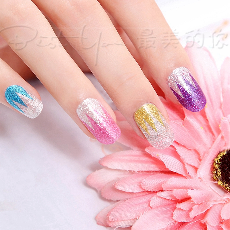 1Pcs Colorful Hot Glitters DIY Full Cover Nail Sticker Long duration MJ0915-WX-A013(China (Mainland))
