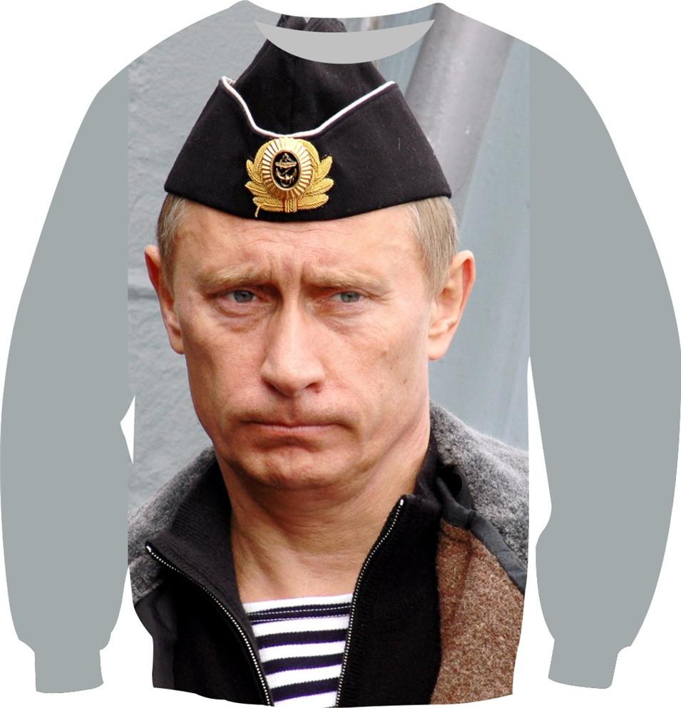 New Putin Sweatshirt Women Men Autumn New Fashion Hoodies Long Sleeve Fleece Pullover Crewneck Tops Gun Putin Print Clothes(China (Mainland))