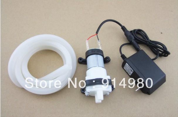 New Aquarium 12V R385 Laptop DC diaphragm pump pumps water fish tank small micropump,2L/Min,+12V1A power+ 7*10MM silicone tube(China (Mainland))