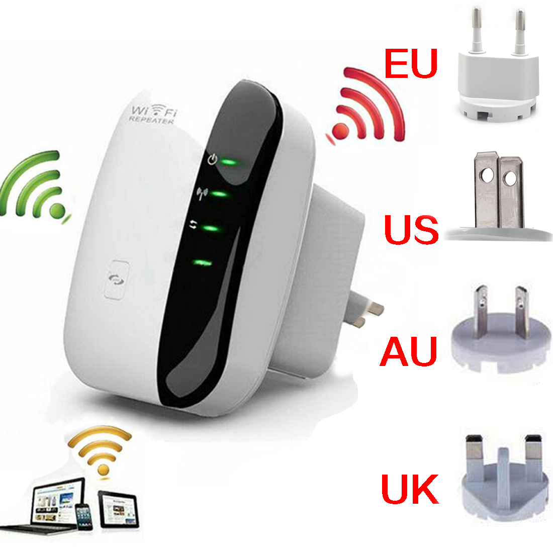 Amplificador repetidor de sinal wifi wireless 300mbps wi fi wi-fi repeater router Internet antenna rede sem fio(China (Mainland))