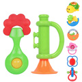 8pcs set Cute Baby Gift Educational Toys Baby Bottle Rattles Combination Baby Hand Bell Baby Rattles