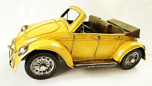 Fashion Iron crafts retro model car the beatles yellow car model Novelty Home/pub decoration boys gift(China (Mainland))