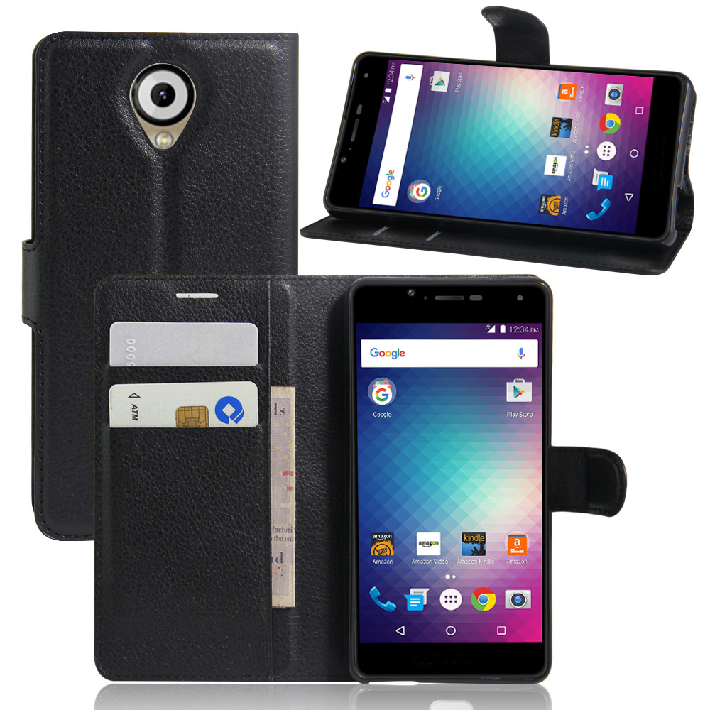 5 Pcs/Lot PU Leather Wallet Case For Blu R1 HD Phone Bag Cover With Stand Function And Visa Card Slot(China (Mainland))