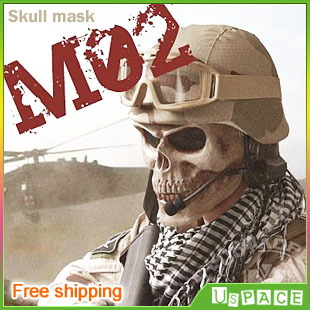 The Army Tactical skull mask, outdoor field death skull mask, Full Face Protect Safe Mask, free shipping(China (Mainland))