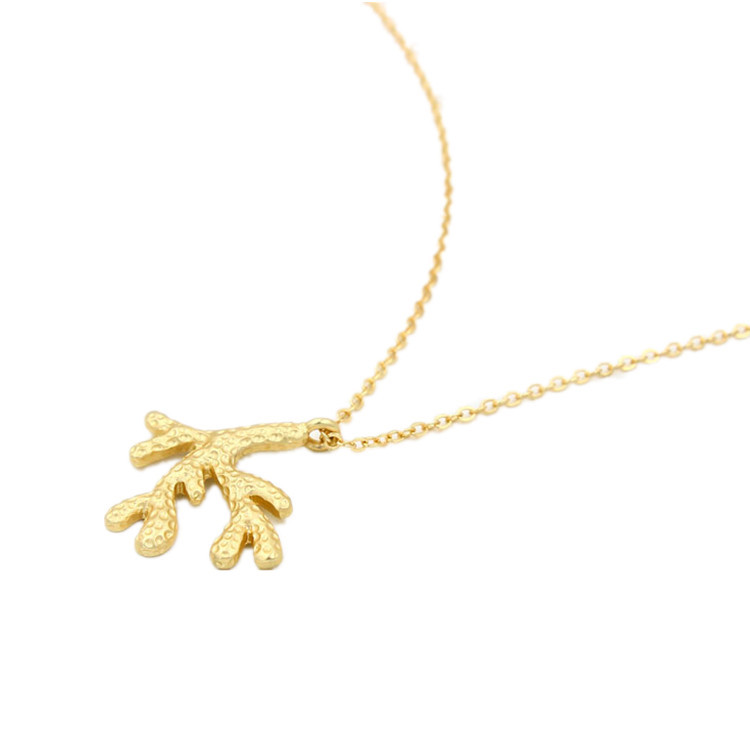 New Arrival European Golden Sweater Chain Coral Pendant Necklace Wedding Jewelry For Women Lay Fashion Jewelry Free Shipping(China (Mainland))