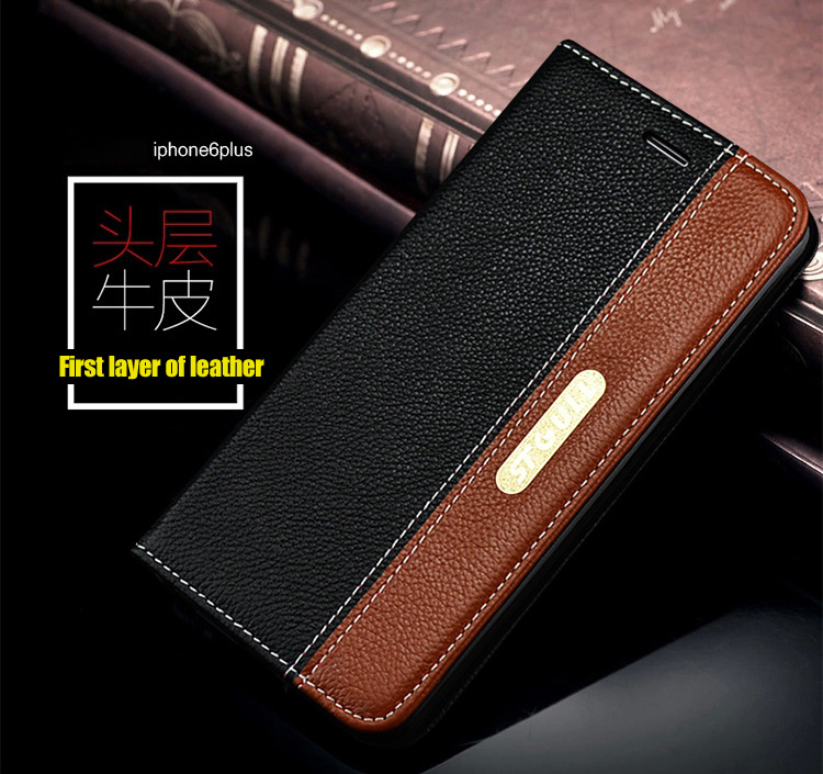 """Genuine Leather Cards With Stand Case For iPhone 6 6G 4.7"""" Phone Bag for iPhone 6 Plus 5.5"""" 2 Styles Card Holder Brand New 2015(China (Mainland))"""