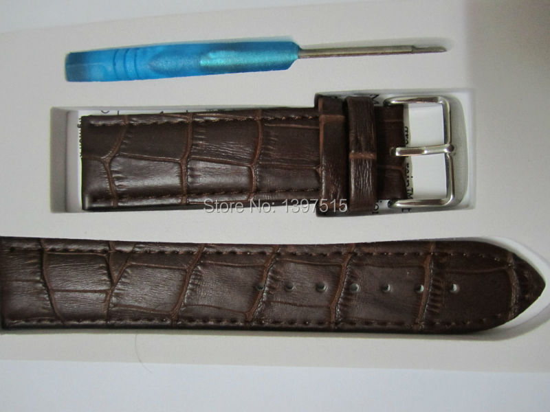 Fashion Design Brown Genuine Leather Watchband for Apple 42mm Luxury Band Strap for 100% Handmade Buckle Watch Strap(China (Mainland))