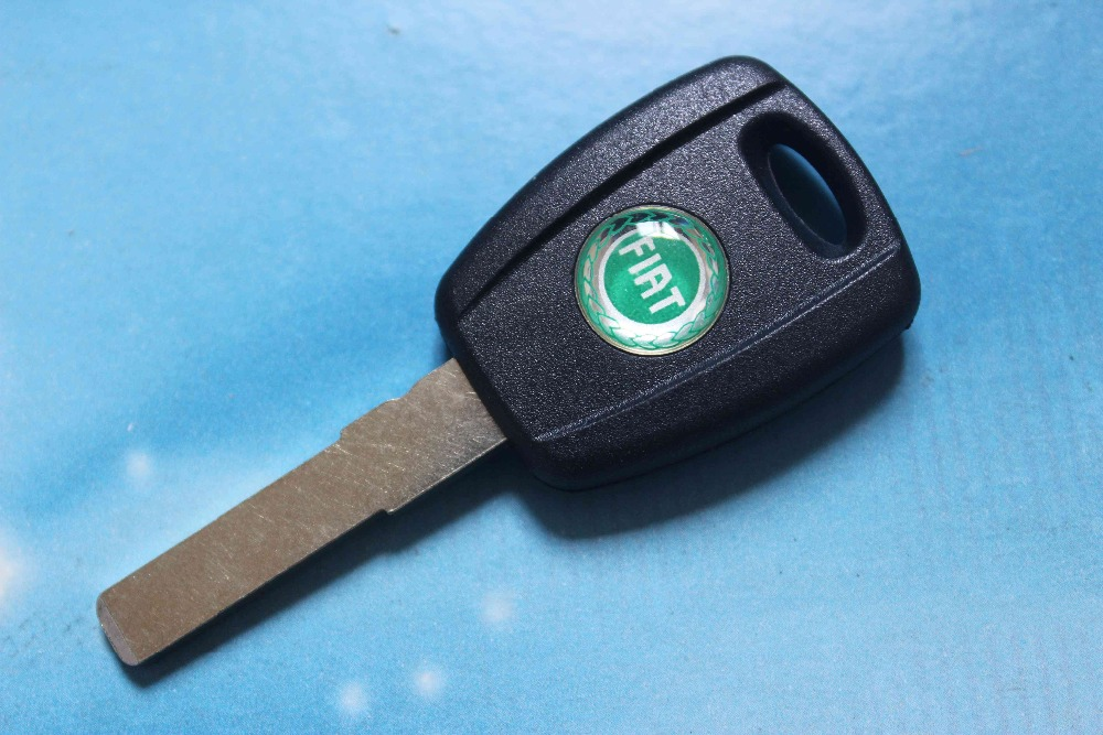 Car Key Shell Auto Transponder Key Case Fit For Fiat Black Color With Logo Free Shipping(China (Mainland))