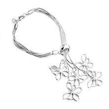 Free shipping,925 silver jewelry Bracelet,Tai Chi hanging five butterfly, fashion jewelry Bracelet wholesale price! S150(China (Mainland))