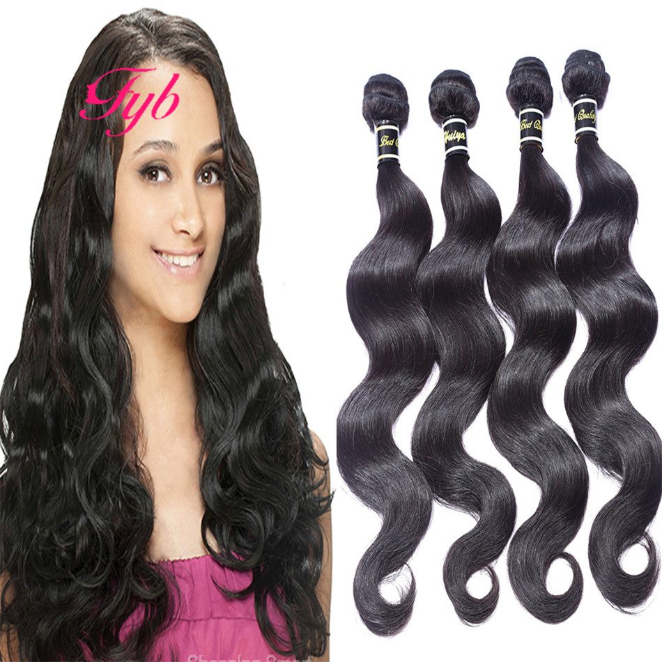 Brazilian Virgin Remy Human Hair Loose Weft Weave Natural Straight