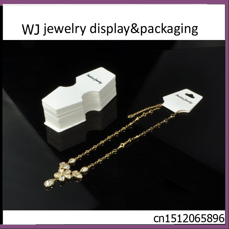 DIY 50 Pcs Necklace Earring Jewelry Tag White Paper Display Cards Foldable Tag Supplies Bracelet/Choorin/Trinket Hanging Holder(China (Mainland))