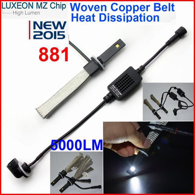 2015 New 40W 5000LM 881 880 PHILIP LED Headlight Kit Car Driving Lamp Bulbs 6000K White H1 H3 H11 9006(China (Mainland))