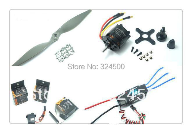 Skyhunter airplane power combo Motor ESC Prop Servos kit Brushless SunnySky x2820 kv920 FlyFun 60A 12x6 Propeller MD933 RC Plane(China (Mainland))