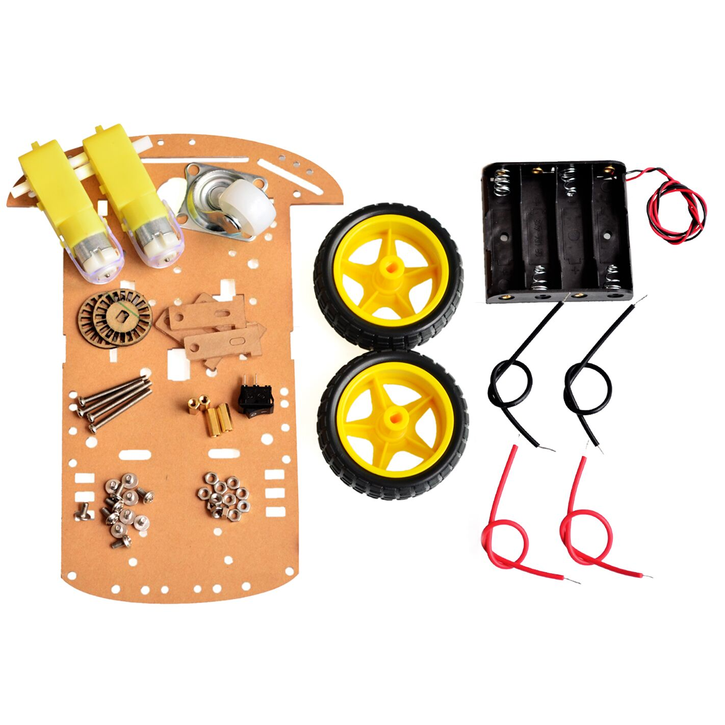 Motor Smart Robot Car Chassis Kit Speed Encoder Battery Box 2WD For Arduino Free Shipping(China (Mainland))