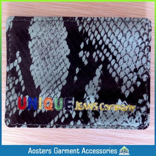 Wholesale custom jeans label leather label markets leather label wholesalers free shipping(China (Mainland))