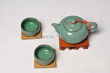 Ge Kiln * Longquan Celadon Ware Beauties Teapot & Cups Kungfu Tea Set 180ml