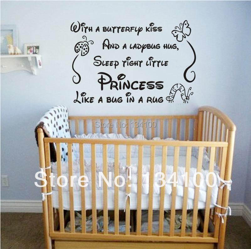 Baby girl quotes promotion shop for promotional baby girl - Stickers papillon chambre bebe ...