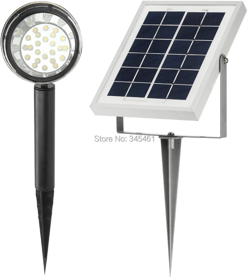 New  24LED Solar Spot Lights- 1.0w 100 Lumen - High Lumen-Solar Spotlight with 16 Feet Wire  IP55 waterproof Solar Garden Lamp<br><br>Aliexpress