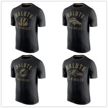 Men's T shirts AJ Von Peyton Dan Ray Joe Flacco Lewis Marino Manning Miller Green Jersey Salute to Service T-shirts Black(China (Mainland))