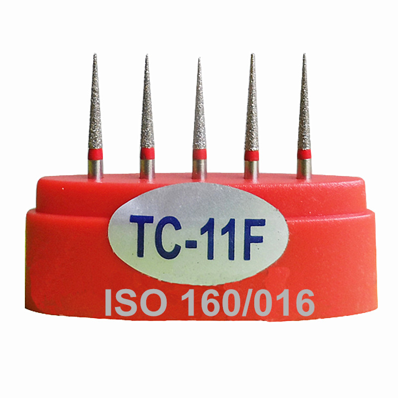 High Quality Dental Equipment Diamond Burs TC-11F Standard Grit FG 1.6mm Dentist Material Free Shipping(China (Mainland))