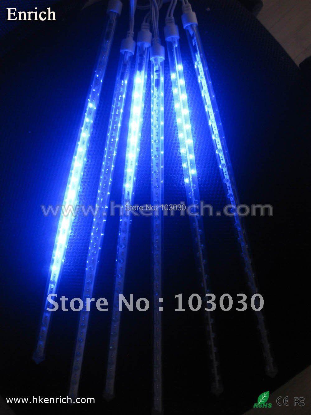 20cm 12pcs/set Mini type LED Meteor Light LED Rain light double-sided with Free Shipping(China (Mainland))