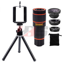Buy Phone Lens 12X Telephoto Zoom Lentes Telescope Tripod Holder Fisheye Wide Angle Macro Lenses Microscope Huawei P7 P8 Lite P9 for $15.88 in AliExpress store
