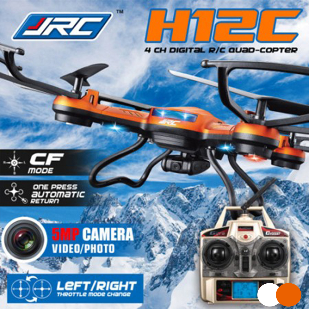 JJRC H12C Headless Mode One Key Return RC Quadcopter With 5MP Camera Orange White Remote Control Helicopter Quadrocopter<br><br>Aliexpress