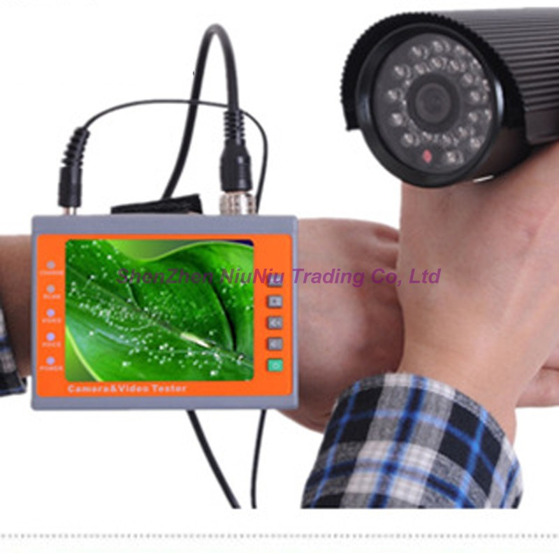 Brand New iPook PK66B CCTV Camera Tester Monitor With Cable Hunt Function DC 12 Volt Output Security Surveillance Video Test(China (Mainland))