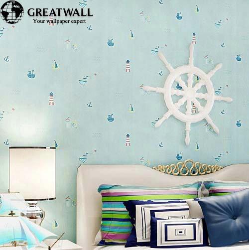 non woven wallpapers for kids bedroom cartoon blue wallpaper children