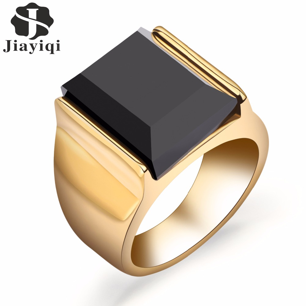 Black stone ring for women