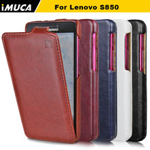 100% Original Brand New iMUCA leather case for Lenovo S850 S850T Vertical Flip Cover Mobile Phone Bags & Cases Accessories(China (Mainland))